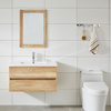 New Design Vanilla Melamine Modern Bathroom Cabinet with Basin Vanity Set