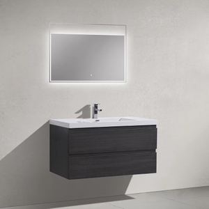 Wall Mounted Bathroom Cabinet with Dark Color Surface