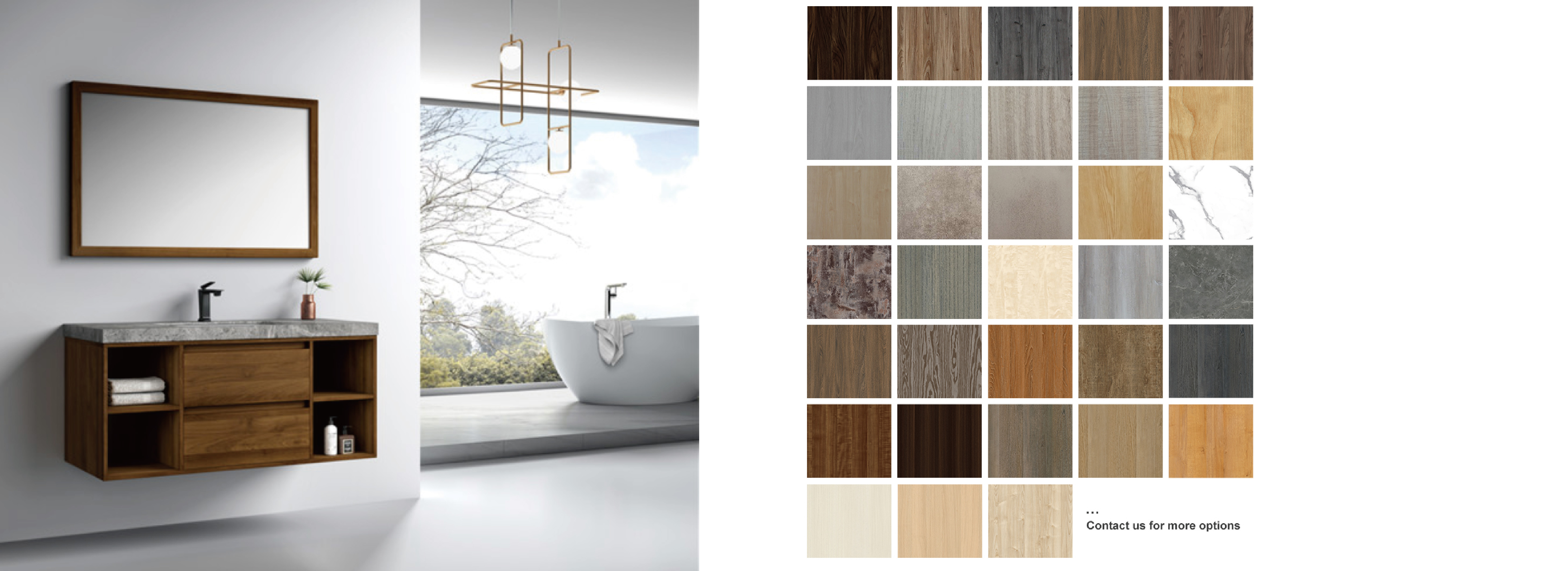 Industry Style Bathroom Cabinet Could Choose Color-01