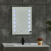 CE IP44 New Style 2 Sides Frame Illuminated Copper-free LED Bathroom Mirror Hot Selling