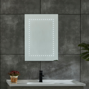 CE IP44 New Style 4 Sides Frame Illuminated LED Bathroom Mirror with Shaver Socket