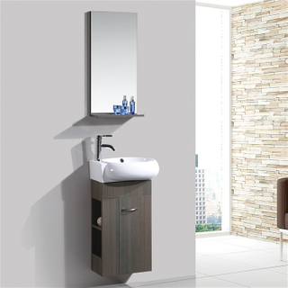 Entop Cheap Single Hanging Bathroom Corner Cabinet Vanity Top Cabinet