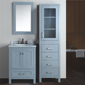 Bathroom Standing Cabinet Contemporary Bathroom Cabinet Set with Marble Top
