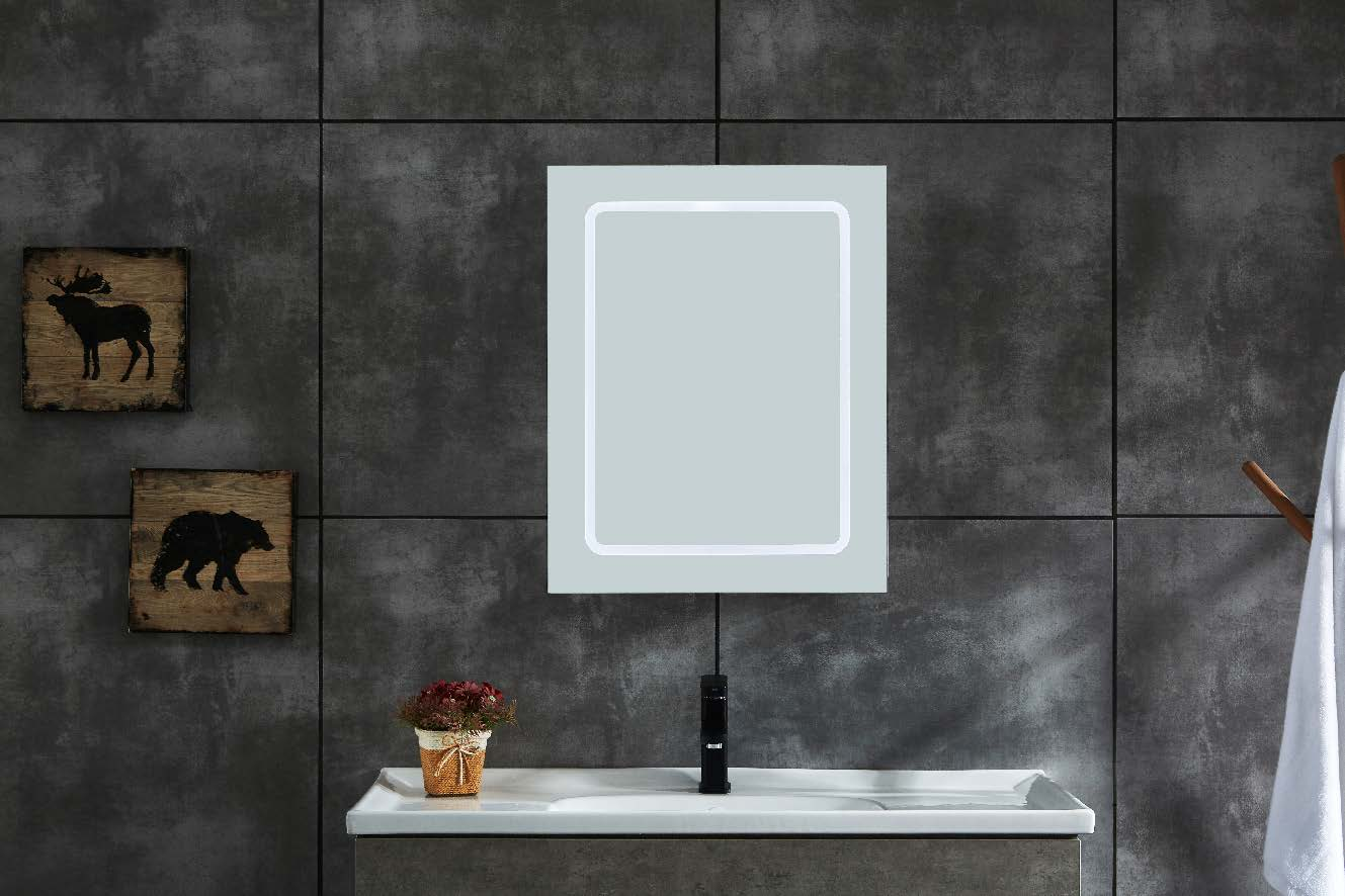 Vertical LED Mirror Cabinet Copper-free Bathroom Wall Mounted