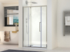 8MM Thickness Tempered Glass Alumium Frame Single Pull Door and Double Pull Doors