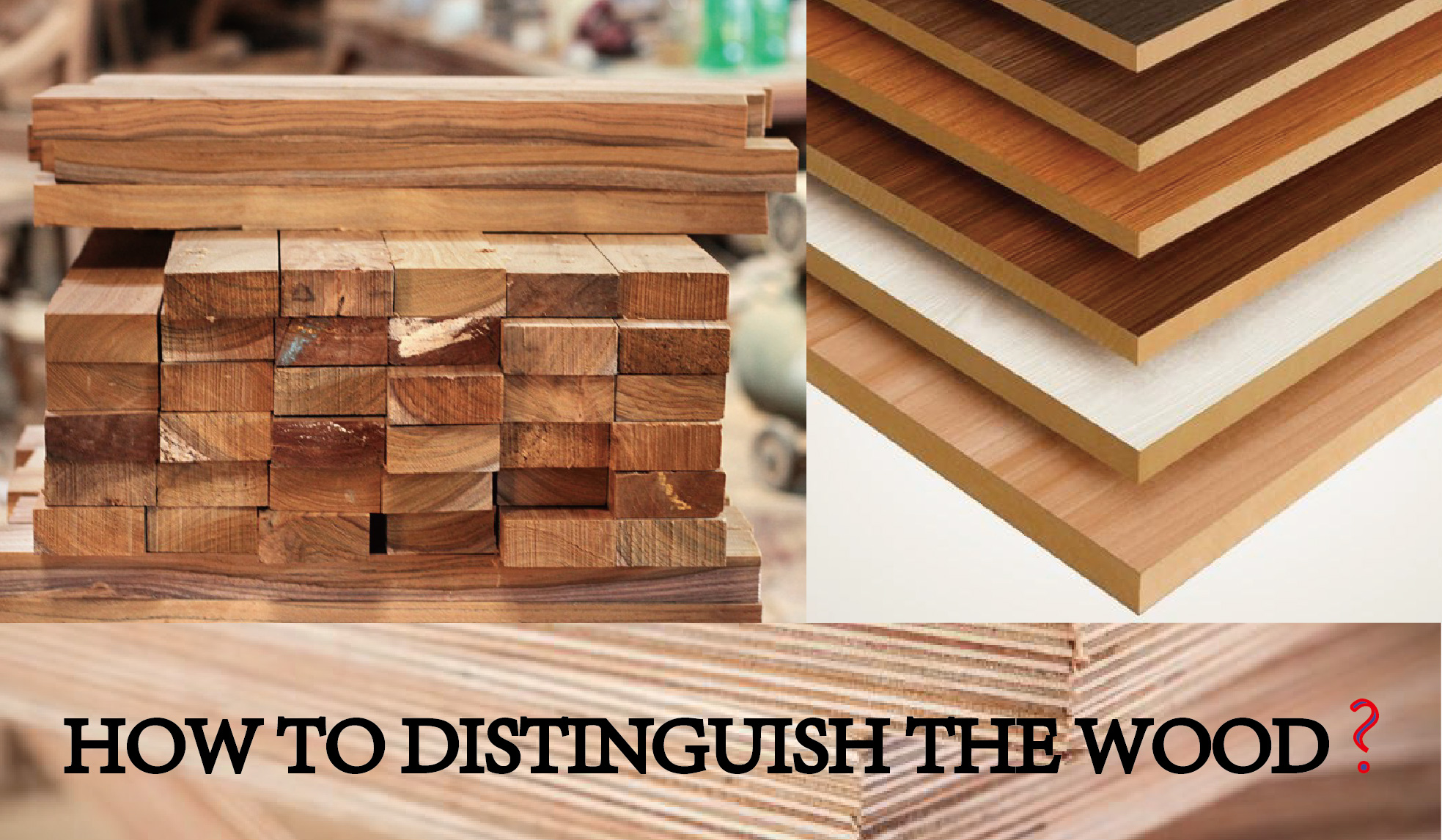 How to distinguish Solid Wood, Plywood, MDF and OSB?