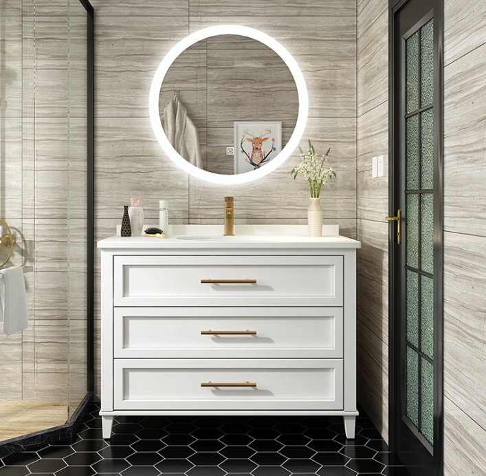 Floor Standing Bathroom Cabinet Manufacture White Design