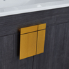 Bathroom Cabinets Wall Floor Mounted Vanity Golden Color Legs