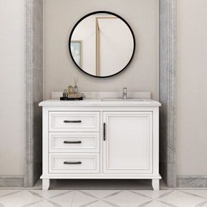 Floor Standing Bathroom Cabinet Ideas Wirh Doors and Drawers Optional Normal Mirror LED Mirror White Grey Painting
