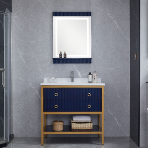 Navy Blue Bathroom Cabinets Floor Vanity