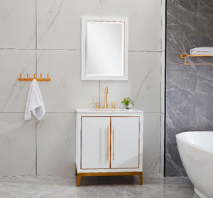 White Luxury Modern Bathroom Cabinets